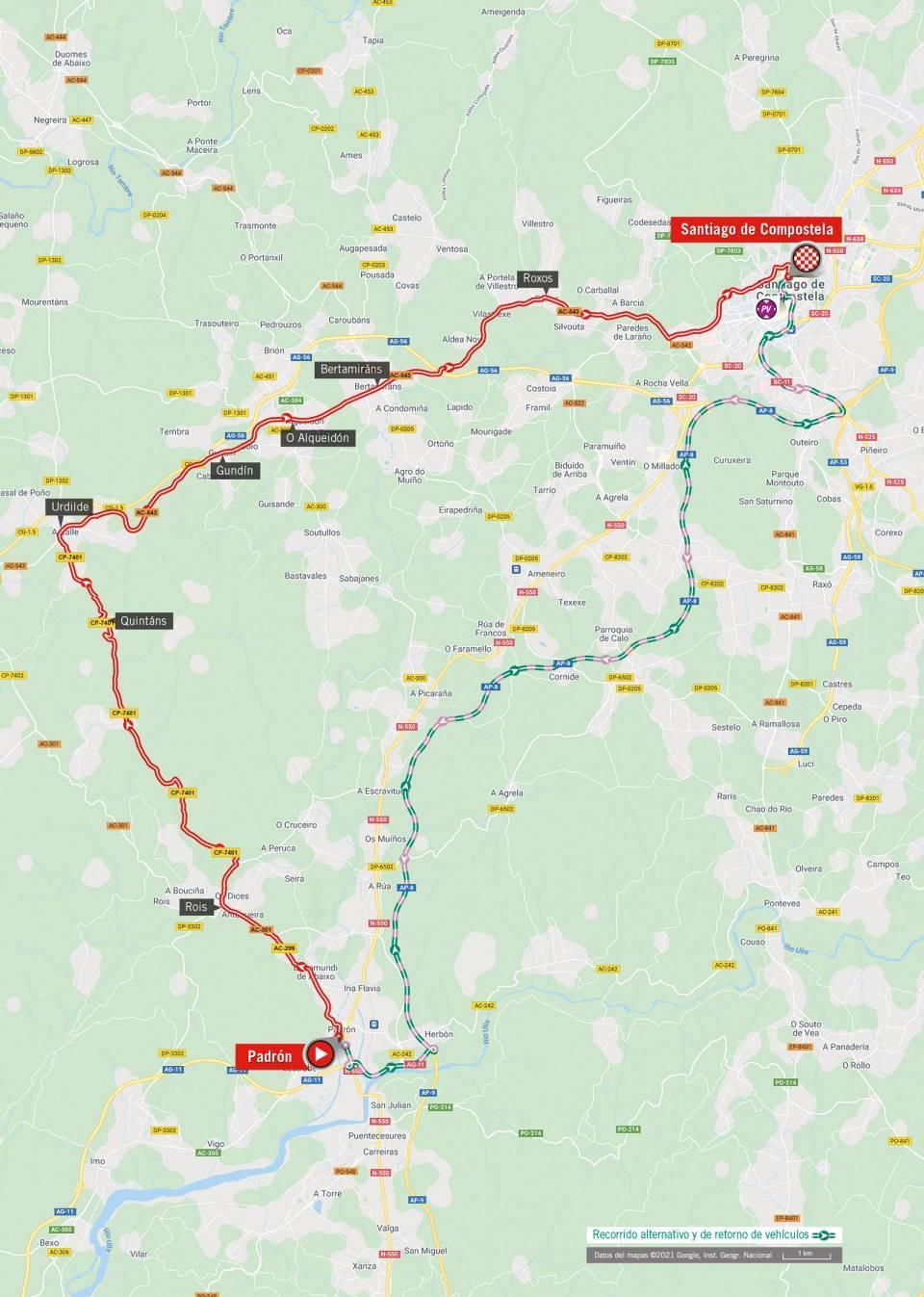 Map stage 21 of 2021 Vuelta a España