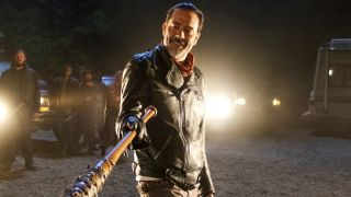 An image of Negan from The Walking Dead season 6