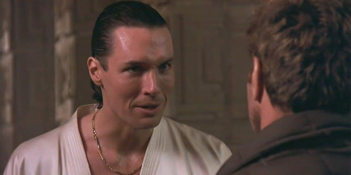Terry Silver talking to John Kreese in The Karate Kid 3