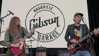 Joe Bonamassa and Jared James Nichols at the Gibson Garage