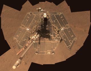 Self-Portrait by Freshly Cleaned Opportunity Mars Rover in March 2014