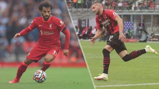 Liverpool vs AC Milan live stream — Mohamed Salah of Liverpool and Ante Rebic of AC Milan