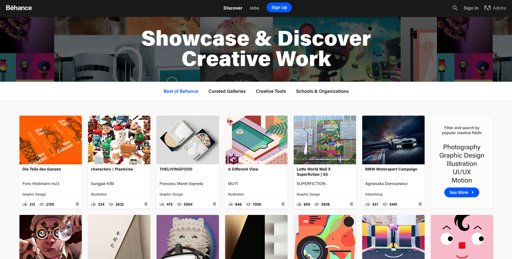 Behance - free graphic design software