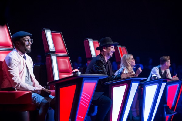 will.i.am, Boy George, Paloma Faith and Ricky Wilson on The Voice