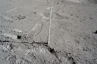 A drive tube pounded into the lunar regolith by Apollo 17 astronauts Gene Cernan and Harrison Schmitt collected a core sample that has remained sealed for almost 50 years. It will now be opened for scientific study using modern technology and techniques.