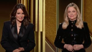Tina Fey and Amy Poehler hosting the Golden Globes 2021