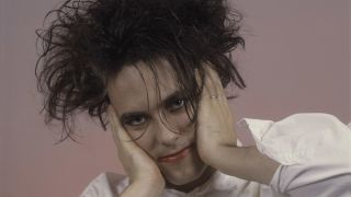 A close-up of The Cure's Robert Smith