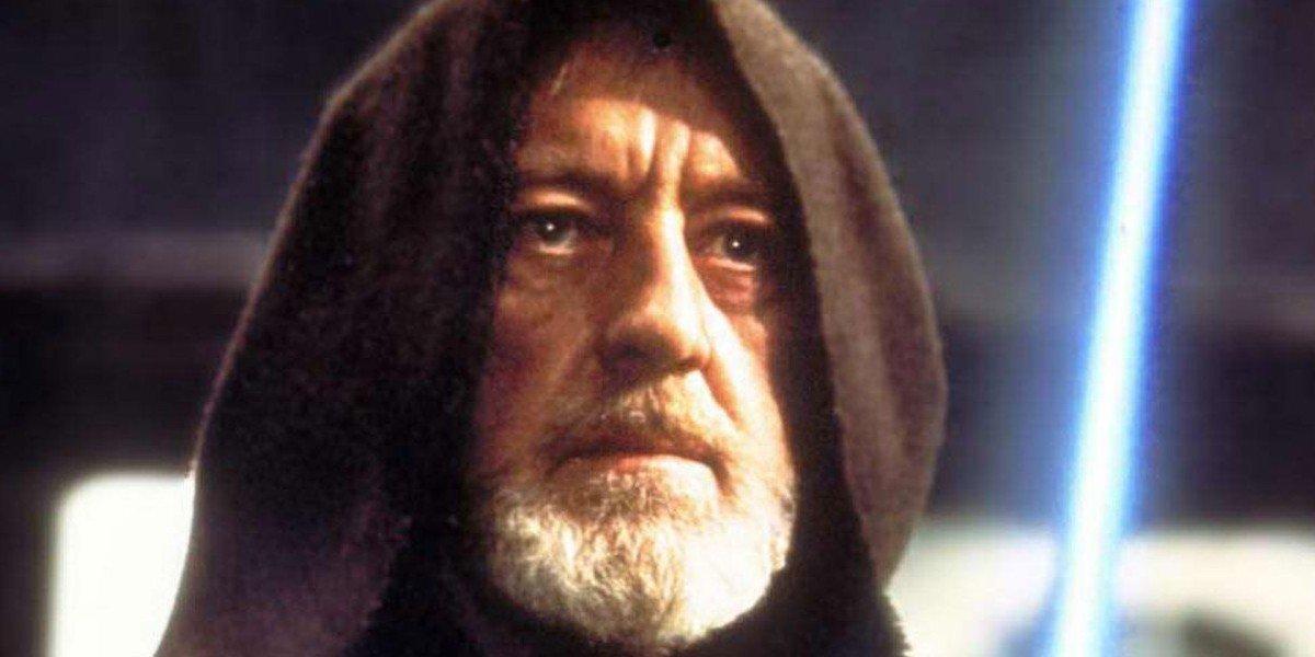 "Alec Guinness as Obi-Wan ""Ben"" Kenobi in Star Wars"
