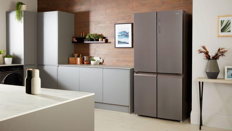 Haier fridge freezer closed in kitchen