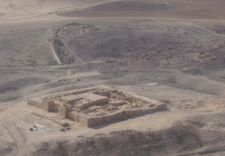 An aerial view of the Tel Arad fortress that stands in what was once the Kingdom of Judah.