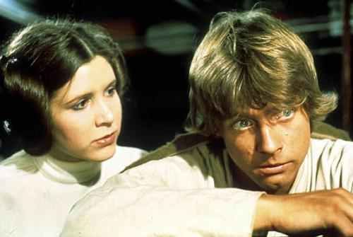 Episode IV - A New Hope, Mark Hamill, Carrie Fisher
