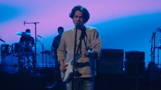 John Mayer performing live on The Late Show with Stephen Colbert
