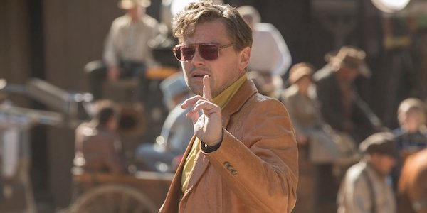 Once Upon A Time In Hollywood Rick Dalton signals with his finger on set