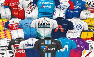 A wide range of preferences for colours, patterns and branding in the peloton