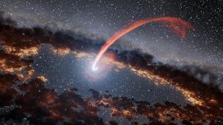 Supermassive black hole devours star