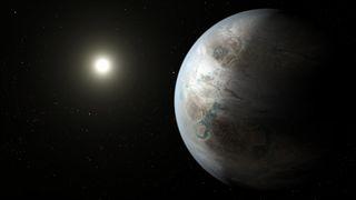Artist's concept of exoplanet Kepler-452b
