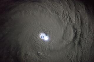 The gleaming eye of Cyclone Bansi.