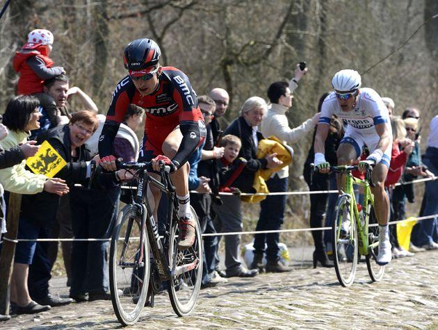 Taylor Phinney on Arenberg, Paris-Roubaix 2013