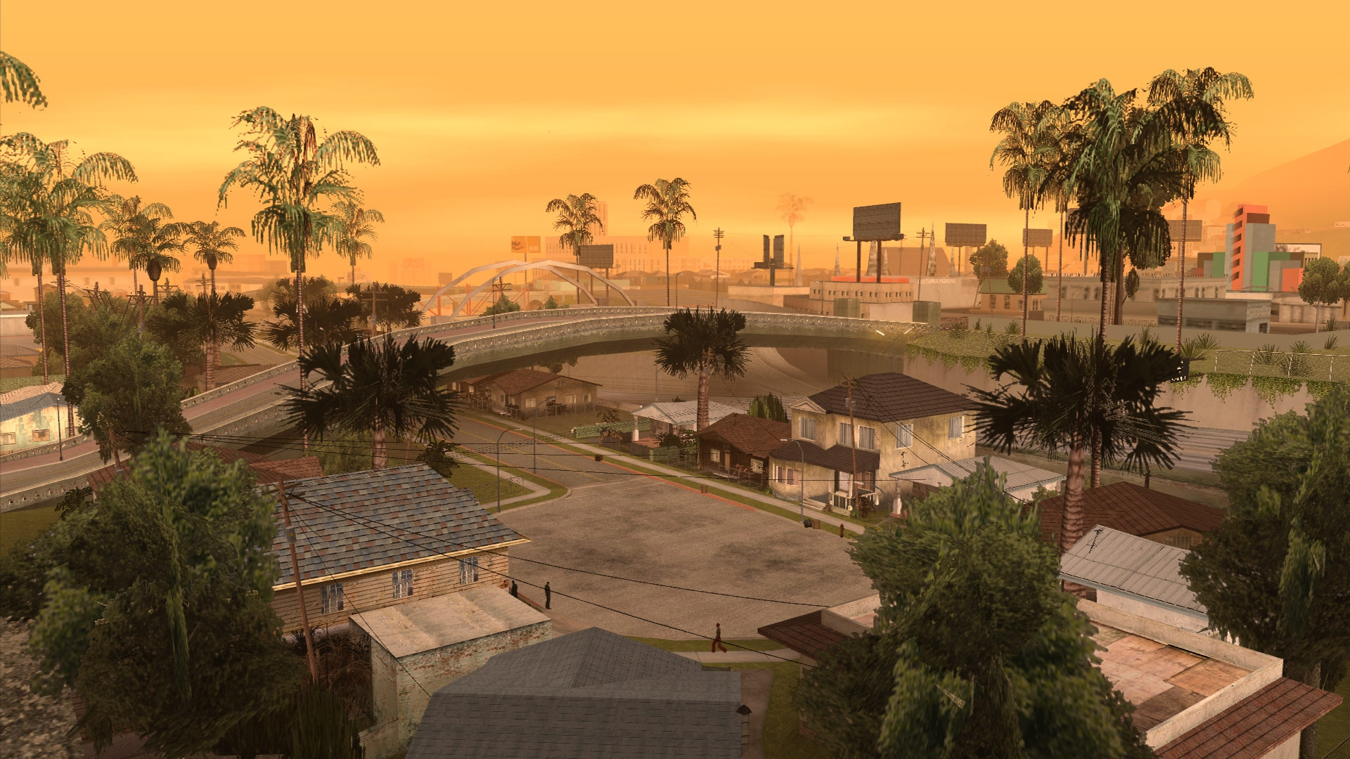 A sunset view of Los Santos