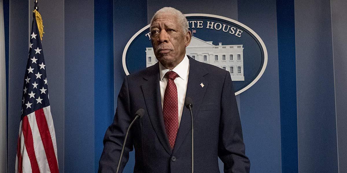 Morgan Freeman as President Allan Trumbull in Angel Has Fallen