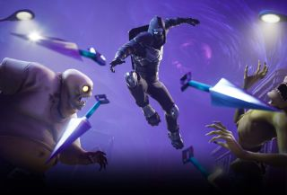 A ninja throws kunai in this Fortnite: Save The World marketing screenshot