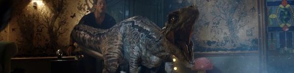 Raptor screams in Jurassic World fallen Kingdom