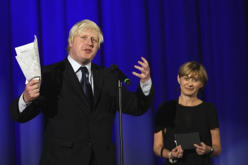 Boris Johnson in full flight at the LFF gala screening of Genova