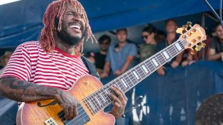 Stephen Bruner of Thundercat performs during the Newport Jazz Festival 2019 at Fort Adams State Park on August 02, 2019 in Newport, Rhode Island