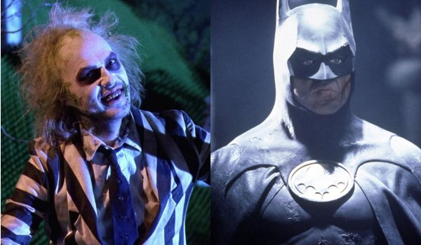 Beetlejuice smiles for showtime Batman scowls for justice
