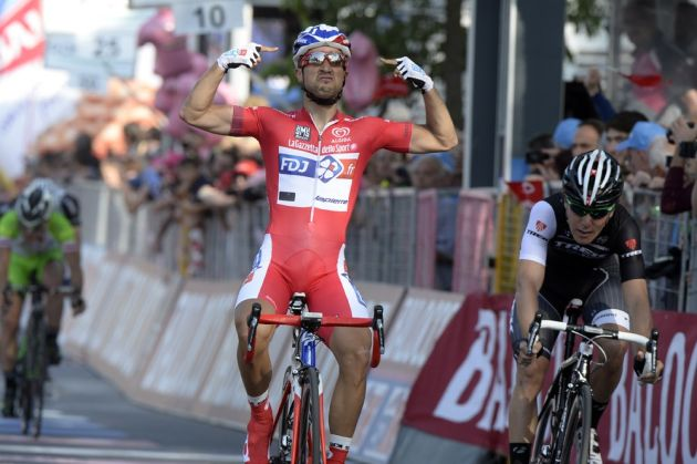 Nacer Bouhanni wins stage ten of the 2014 Giro d'Italia