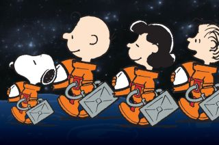nasa peanuts snoopy space act