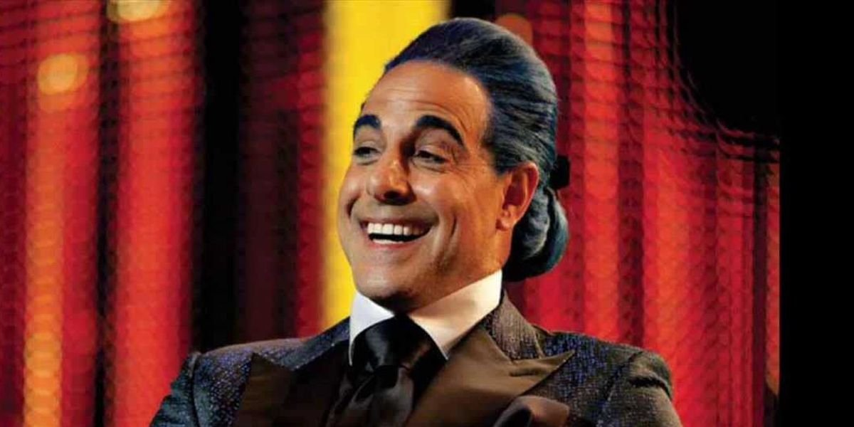 Stanley Tucci as Caesar Flickerman in The Hunger Games