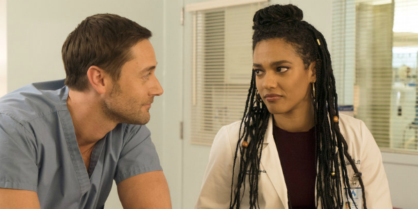New Amsterdam Max Goodwin Ryan Eggold Freema Agyeman Helen Sharpe NBC