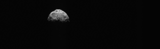 The PolyCam camera on NASA's OSIRIS-REx spacecraft took this picture of Bennu on March 4, 2021 about 186 miles (300 km) away from the asteroid. A portion of the asteroid's equatorial ridge and its northern hemisphere are visible here.