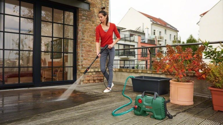best pressure washer: Bosch pressure washer lifestyle image