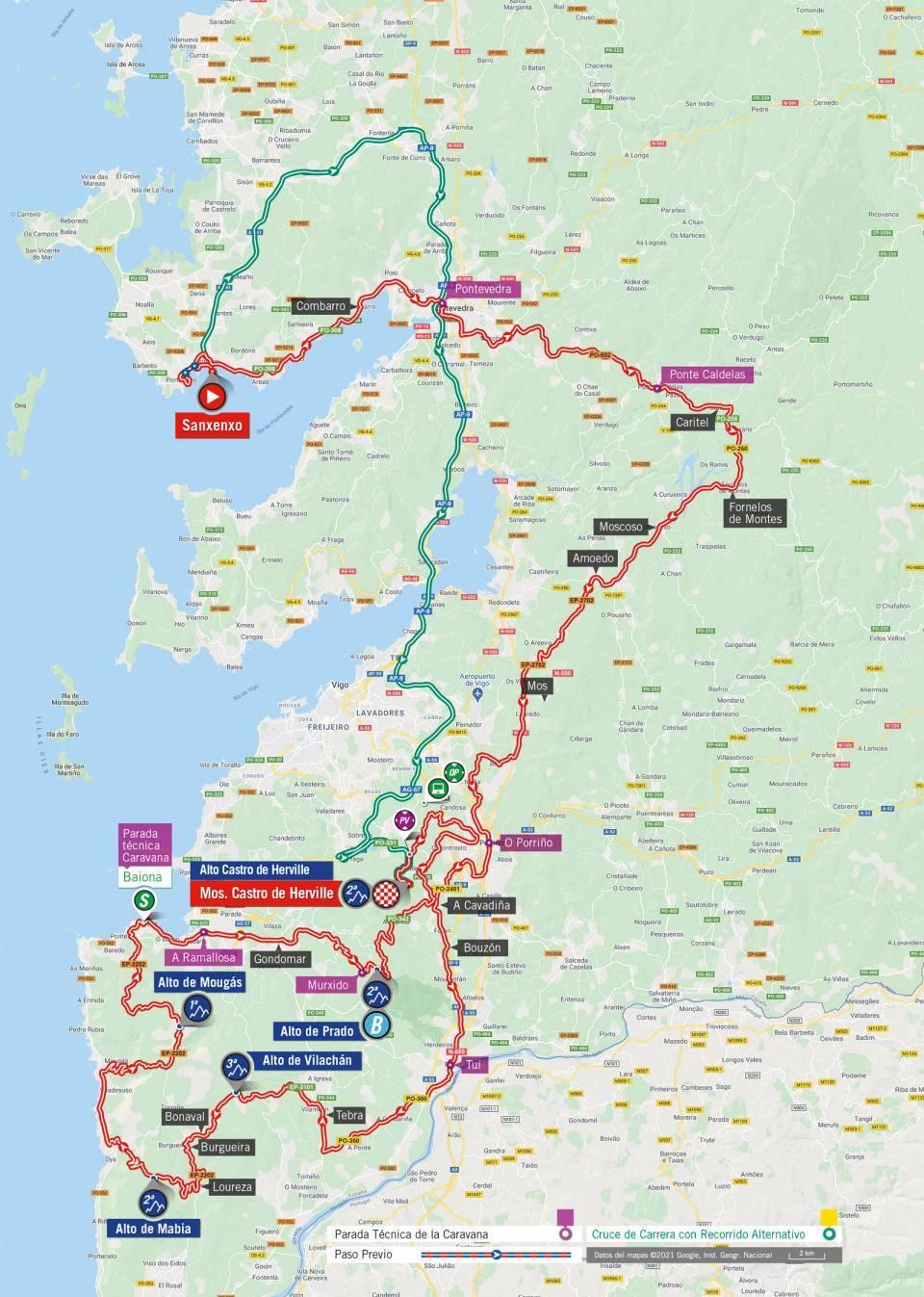 Mapa del nivel 2021 de la gira por España 2021