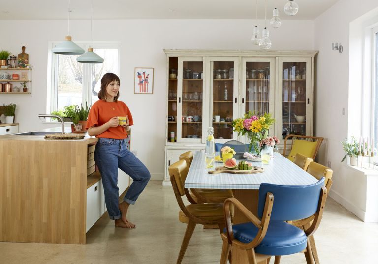 homeowner in the kitchen of their self build home