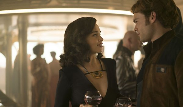 Solo: A Star Wars Story Qi'ra and Han talk over a drink