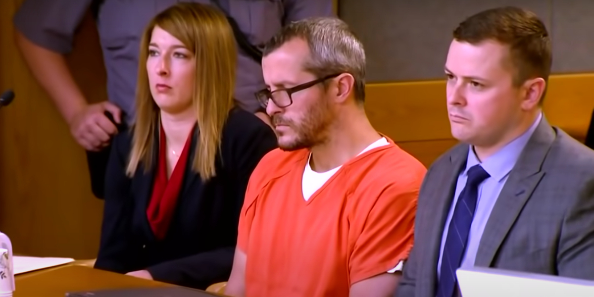 Chris Watts at his sentencing hearing
