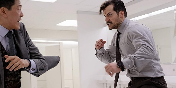 Mission: Impossible - Fallout Henry Cavil August Walker fighting in the bathroom