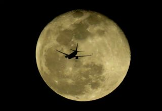 Airplane Transiting the Moon