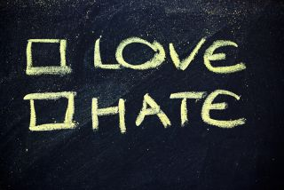 Love/hate, check one