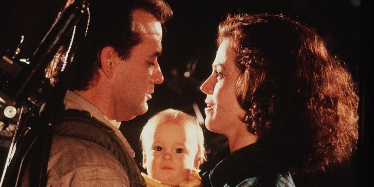 Bill Murray on the right, Sigourney Weaver on the right