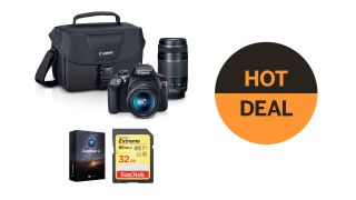 Save $350 on Canon EOS Rebel T6 with 18-55mm and 75-300mm lenses kit!