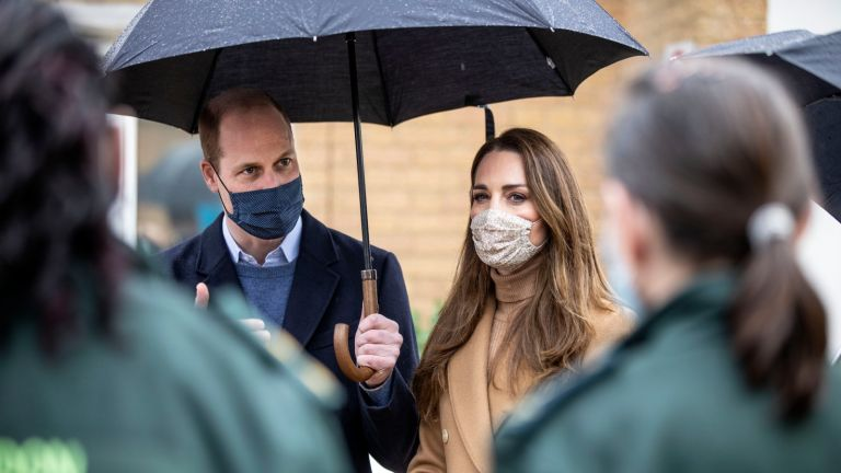 Kate Middleton's kind gesture, Prince William, Duke of Cambridge and Catherine, Duchess of Cambridge visit Newham ambulance station in East London on March 18, 2021 in London, England