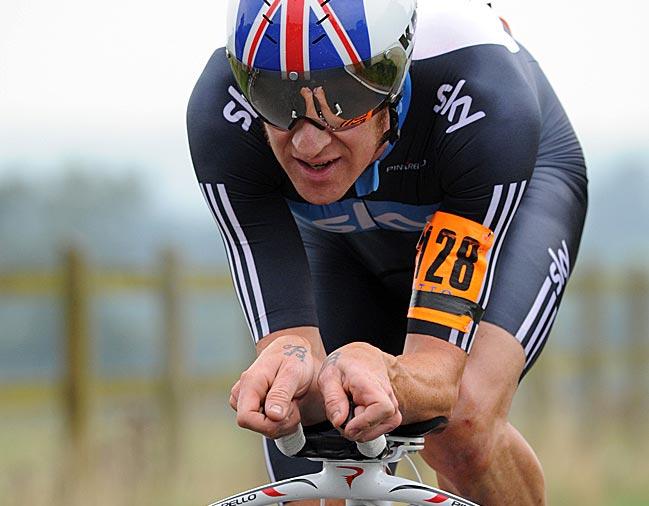 Bradley Wiggins, winner, British time trial national championships 2010