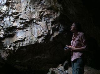 Scientist in Rising Star Cave in South Africa's Cradle of Humankind