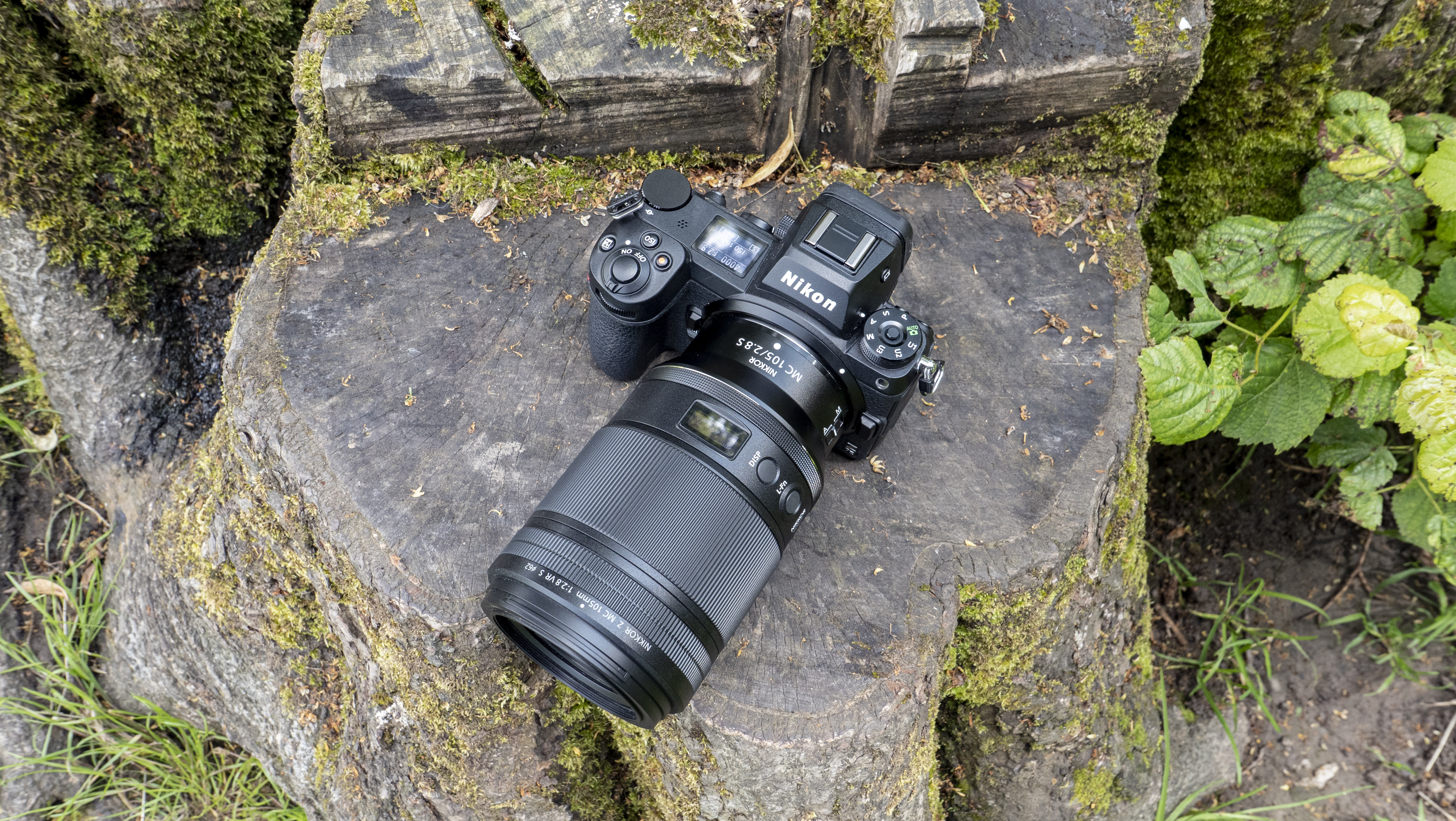 Top-down view of the Nikon Z7 II with a Nikon Nikkor Z MC 105mm f/2.8 VR S lens