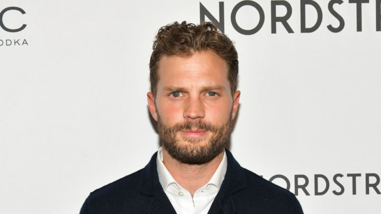 """TORONTO, ONTARIO - SEPTEMBER 07: Actor Jamie Dornan attends the """"SYNCHRONIC"""" premiere party at Nordstrom Supper Suite at MARBL Restaurant on September 07, 2019 in Toronto, Canada. (Photo by Rodin Eckenroth/Getty Images)"""