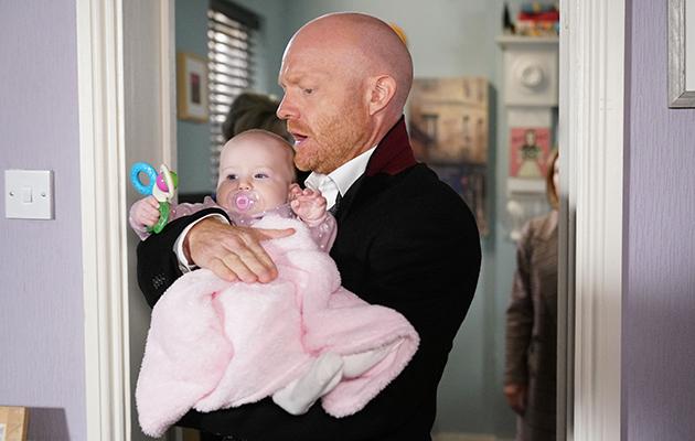EastEnders spoilers - Max Branning leaves with Baby Abi
